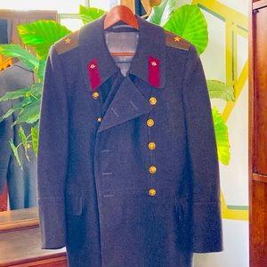 Men's Vintage 1940's Soviet Wool Overcoat